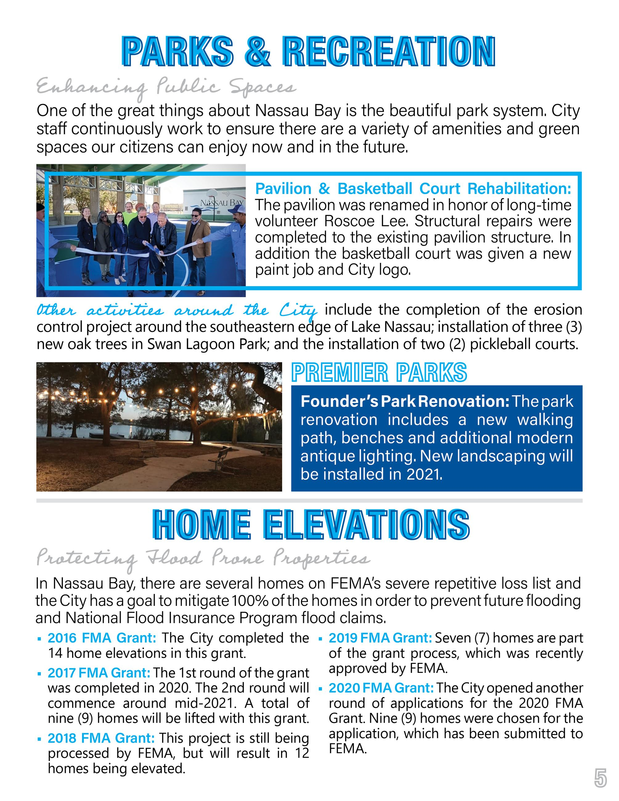 2020 Nassau Bay Year in Review Page 5