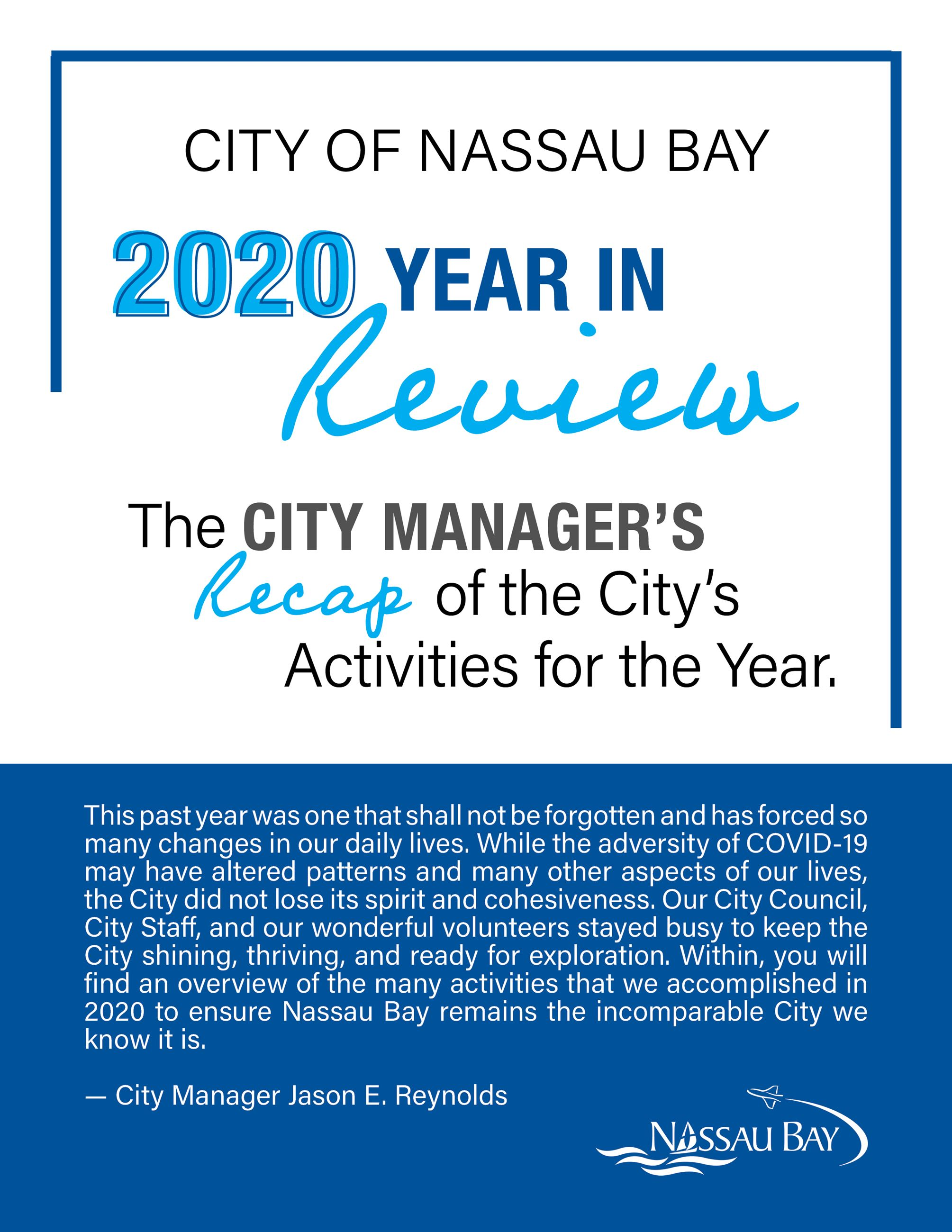 2020 Nassau Bay Year in Review Page 1